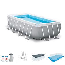 Intex 16 Foot x 42 Inch Prism Frame Rectangular Above Ground Swimming Pool Set
