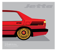 VW Mk2 Jetta side decals (Please state coupe or 4 door on purchase plus colour)