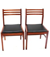 Pair of Retro Danish Style Teak Dining Chairs [ 5852 A ]