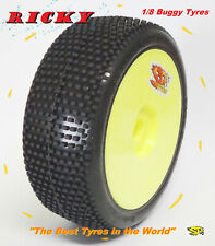 Gomme Tire 1/8 BUGGY SP RACING RICKY COMPETION XSS incollate SP09200 (1cp)