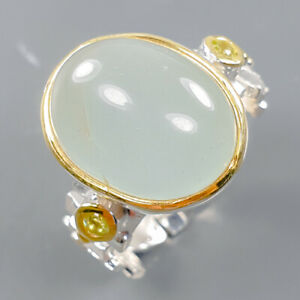 Fine Art Jewelry Aquamarine Ring Silver 925 Sterling  Size 7.5 /R170074