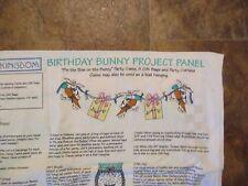 DAISY KINGDOM Vintage BIRTHDAY BUNNY GAME/GARLAND/GIFT BAGS Fabric Panel-1990's
