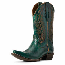 "Ariat 10029676 Women's Peacock Blue 10"" Tailgate Cowgirl Snip Toe Western Boot"