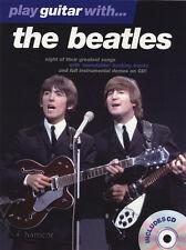 Reproducir música guitarra con los Beatles Tab Libro & Play-a lo largo de pistas de respaldo CD
