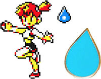 Misty Cascade Water Badge Gold Kanto Gym Leader Lapel Pin | Pokemon Series 1