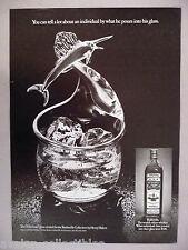 "Old Bushmills Irish Whiskey PRINT AD -1977 Henry Halem created ""Fisherman"" glass"