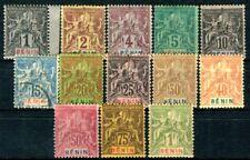 BENIN 1894 Yvert 33-45 meist * TADELLOS , aber 38 gestempelt (D6871