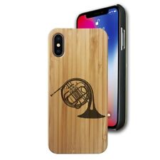 Bamboo Case Compatible with iPhone X, Xs, XR, Xs Max - French Horn