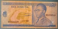 CONGO 10 FRANCS NOTE ISSUED 02.01. 1967, P 9