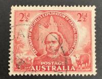 1946 Pre-Decimal Sir Thomas Mitchell 2 1/2d Red Australian Stamp FU C&A WMK