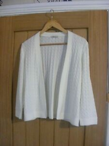 tu cream cable knit cardigan,size 20,plus size,bnwt,everyday/summer holidays