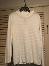 Allison Daley Womens Sweater Size L Cream NWT Soft And Cozy Textured Design