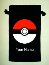Pokemon Personalised Organic Cotton Bag ideal for a Switch DS 3DS PSP Vita