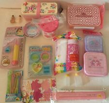 Big Pink Floral Lunch Bento Box Kit With 2 Bento Boxes, Cup, Oshibori, Dividers