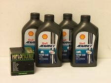 Shell Advance ultra 4t 15w-50/filtro aceite ducati 1000 todos los modelos monstruo también