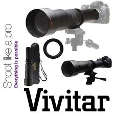 Vivitar HD 650-1300mm Telephoto Lens For Canon Rebel T6 80D 70D 7D 6D 7D Mark II
