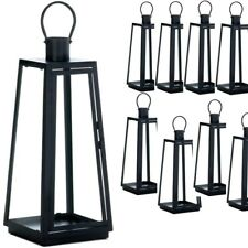 "Lot 10 Angular Large 20"" Tall Metal Lantern Candle Holder Wedding Centerpieces"