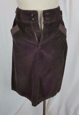 Vintage Levis Chocolate Brown Corduroy Jeans Pants Style Skirt Womens XS Buckle
