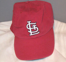 St Louis Embroidered Red Cotton Large Relaxed Fit Ball Cap by Forty-Seven
