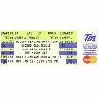 VOODOO GLOW SKULLS Full Concert Ticket Stub PHOENIX ARIZONA 1/18/99 MASON JAR
