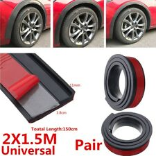2x1.5M Black Car Wheel Eyebrow Arch Trim Fender Flares Protector Strip Universal