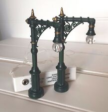 Lemax Lighted Victorian Lantern Street Lamp Christmas Village 20547 Set of 2