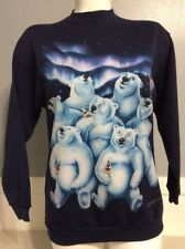 Vtg 1994 Coke Polar Bear Aurora Borealis Lights Pullover Sweatshirt Sz XL    6B