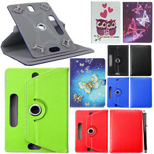 "Lenovo Tab E10 (32GB) 10.1"" Tablet 360°Rotating Universal PU Leather Case Cover"