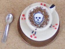 1:12 SCALA LILLIE'S IN CERAMICA TAZZA DI CAFFE 'CAPPUCCINO Halloween Casa delle Bambole D10s