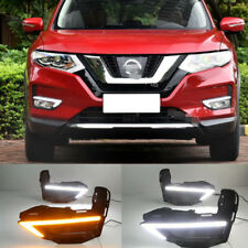 Exact Fit Nissan Rogue X-Trail 2017-up Switchback LED DRL Lights w/ Turn Signals