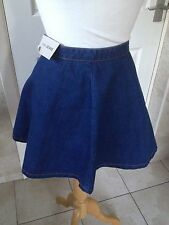 NEXT Ladies Blue Denim Short Flare Skirt Size 12. With Tags.