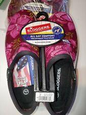 Sloggers Size 7 pink/purple flowers - Women's Waterproof New Gardening Shoes