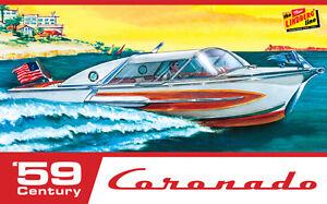 LINDBERG 1/25 1959 Century Coronado Modelo Lancha Kit Nuevo en El Caja