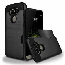 For LG G5 G6 V10 V20 V30 Hybrid Rubber Shockproof Wallet Hard Case Cover