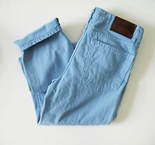 Ralph Lauren Boys Denim Roll Skinny Fit Jeans Lighthouse Blue Sz 12 - NWT