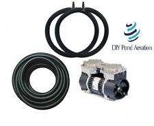 Large 1/3hp Fish Pond Aerator System w/150' Sink Hose & 2-4' Bubble Diffuser's!