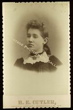 Antique Cabinet Card Photo ID'd Girl Mabel Brooks Swanton Vermont VT
