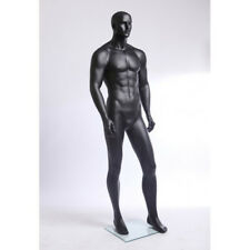 Male mannequin display, charcoal gray muscular looking, handmade manikin-Xm11-8