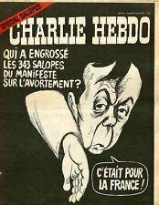 """""""CHARLIE HEBDO N°21 du 12/4/1971"""" CABU : SPECIAL SALOPES (Debré et l'AVORTEMENT)"""