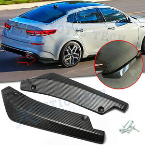 For Kia Optima Carbon Fiber Style JDM Rear Bumper Splitter Lip Diffuser Canards