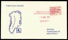 Arctic Polar Grönland 5.6.1977 Brief mit AMPHILEX 77 Stempel