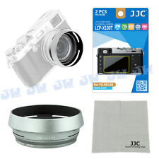 3in1 JJC Metal Lens Hood+LCD Screen Protector+Cleaning Cloth for Fujifilm X100T