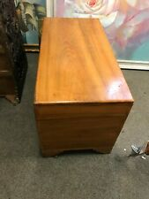 More details for a large solid vintage chinese 100% camphor chest with knocks and scratches