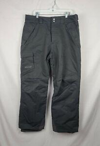 Marmot Men's Gray Lined Snow Ski Pants sz XL