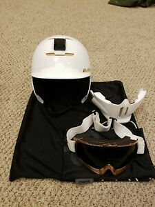 Ruroc RG1-DX Limited Edition Trinity Helmet - YL/S - Rose Gold/White