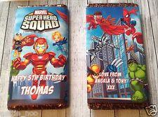 Personalizado Super Héroe Chocolate BAR ENVOLTURA encaja Galaxy 114g Cumpleaños Regalo