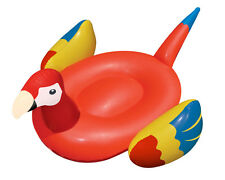 Swimline Swimming Pool Giant Rideable Tropical Parrot Inflatable Float Toy 90629