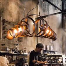 Cage Chandelier Ceiling Light Industrial Vintage Metal Lamp Flush Mount Pendant