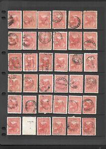 Bulk Stamps Tasmania 1d Mount Wellington x 36 Good Used/ Used Fine Used