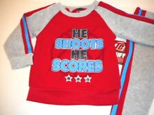 Basketball Toddler boys outfits Clothes Sweatsuits He Shoots He Scores 2 pc 12mo